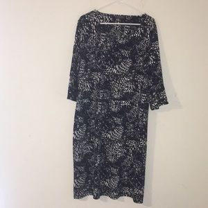 Nwt The limited womens animal texture dress 2x